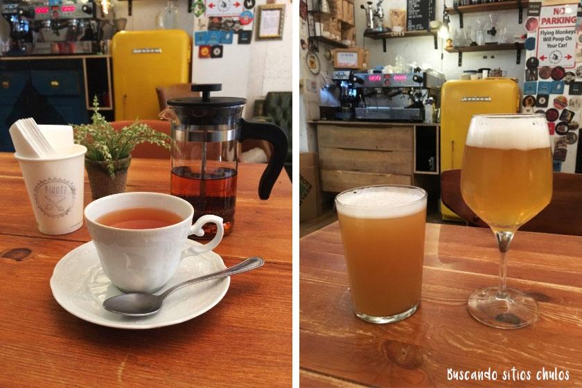 Té y cerveza artesana en Bihotz Bilbao