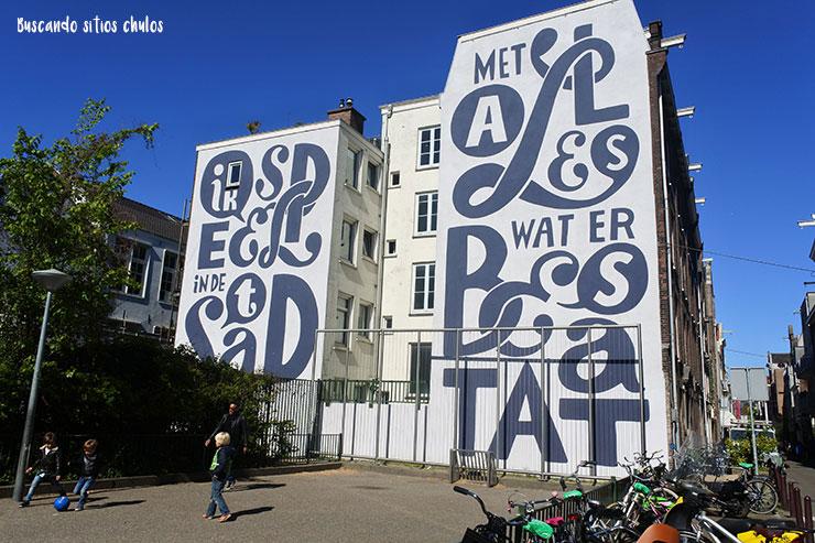 Street Art en los edificios de Ámsterdam