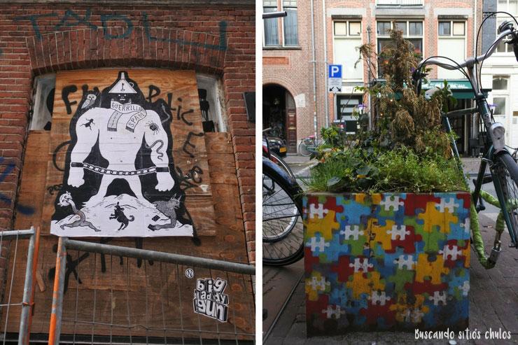 Arte urbano por las calles de Ámsterdam