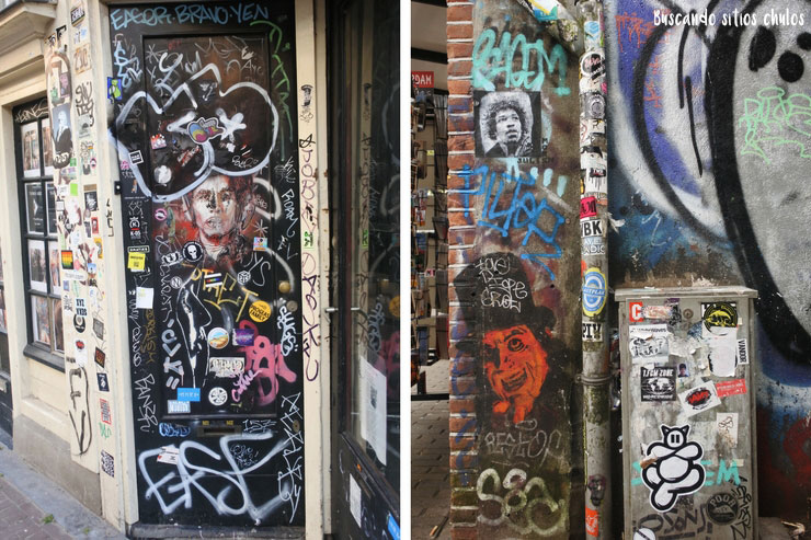 Diversos tipos de arte urbano en Ámsterdam
