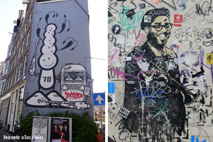 Paseando por entre el arte urbano de Ámsterdam