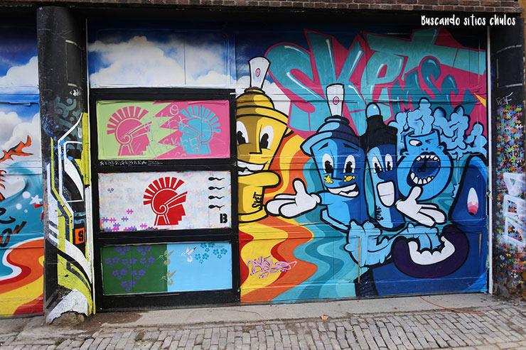 Arte urbano en las calles de Ámsterdam