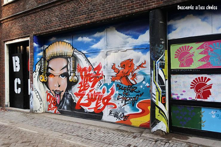 Arte urbano en los muros de Ámsterdam