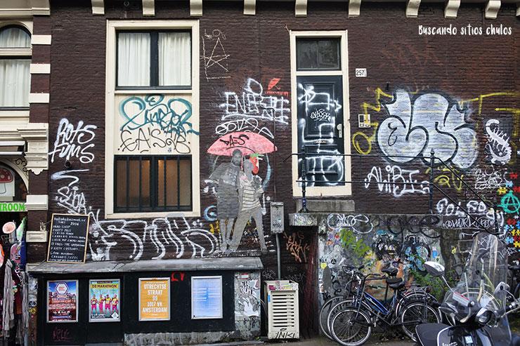 Graffitis en Ámsterdam
