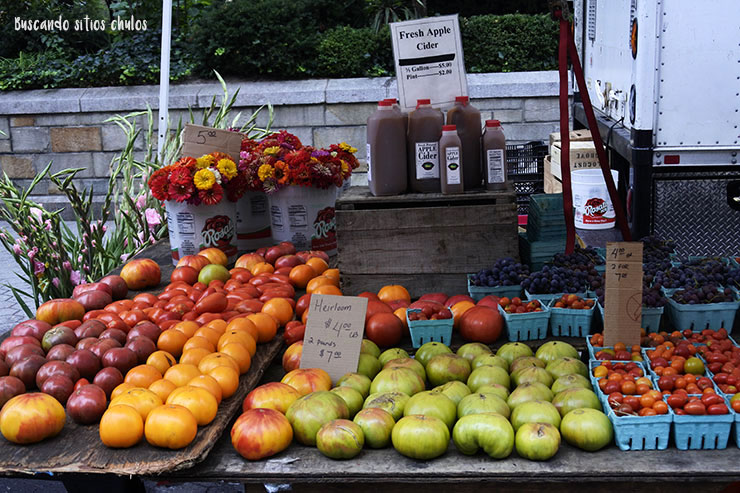 Frutas de agricultura ecológica (Union Square Greenmarket)