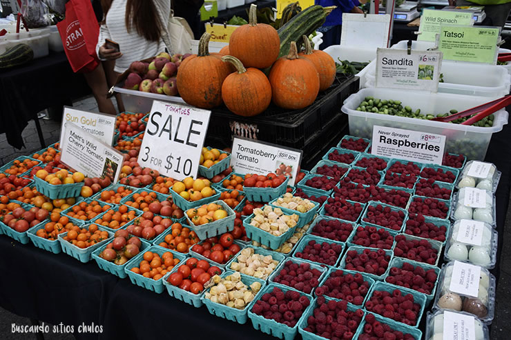 Frutas y verduras (Union Square Greenmarket)