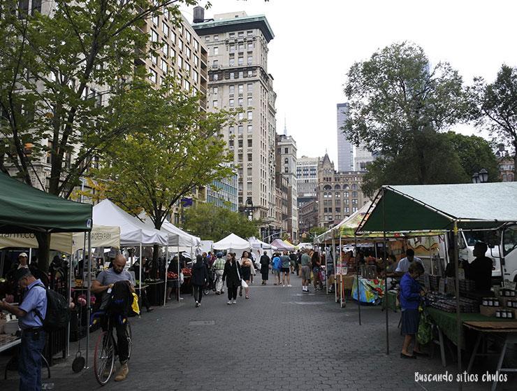 Mercado de agricultores en Union Square