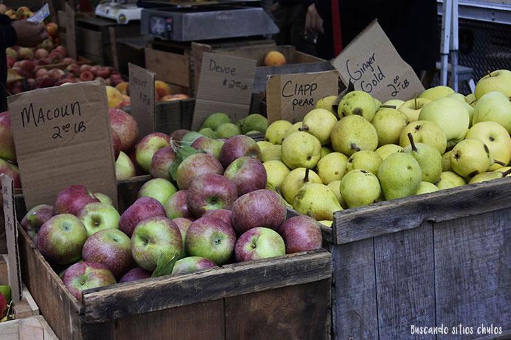 Manzanas y peras (Union Square Greenmarket)