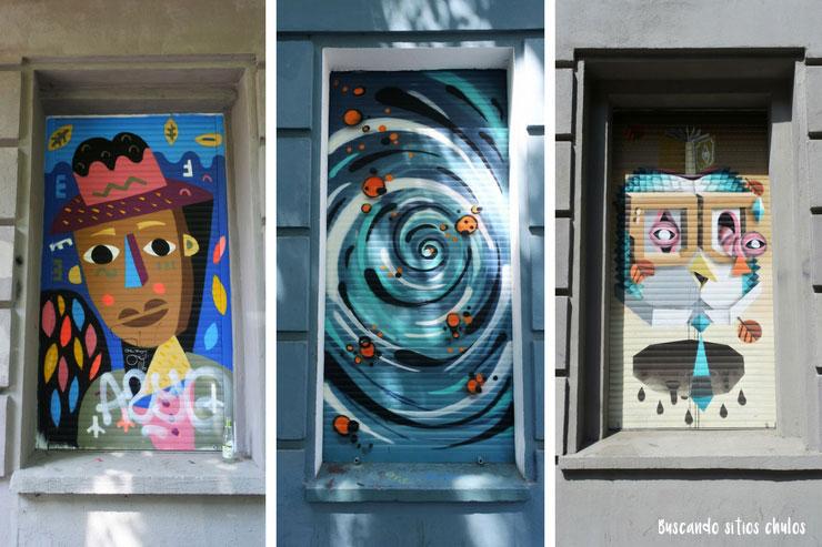 Arte urbano en las calles de Berlín