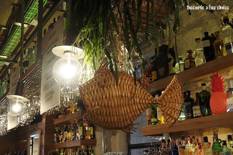 Detalles decorativos de Norte Gastrobar en Burgos