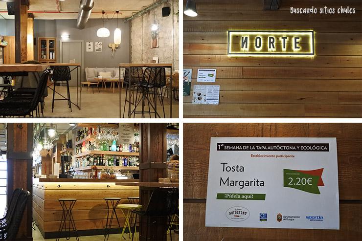 Collage de fotos de Norte Gastrobar en Burgos