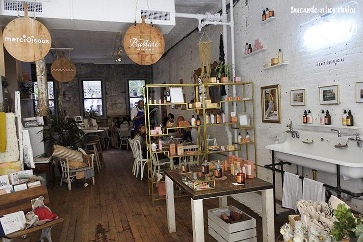 Interior de Marché Maman en Nueva York