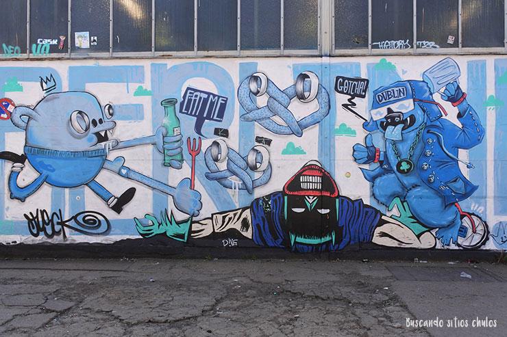 Graffiti en Raw Tempel