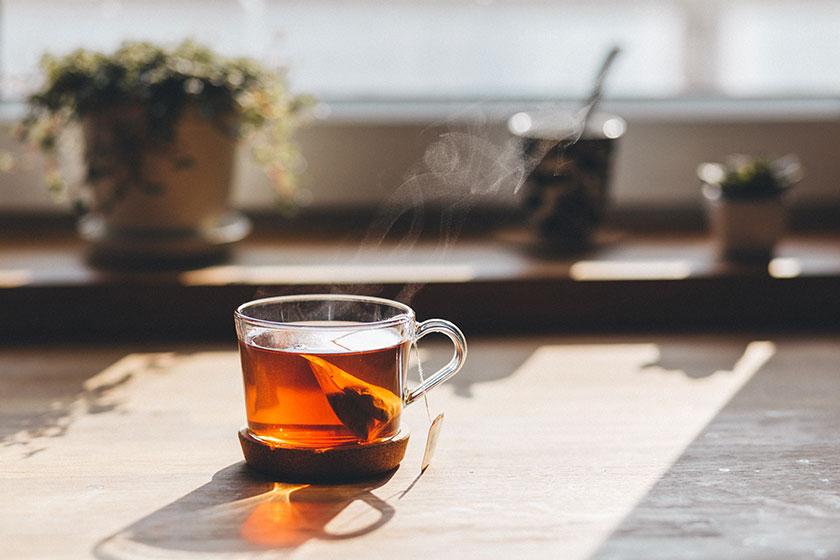 Me hace feliz tomar una taza de té