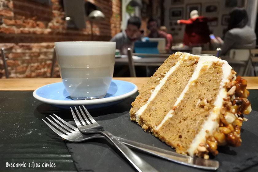 Tarta de zanahoria en Boconó Specialty Coffee