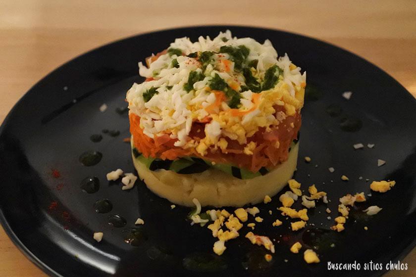 Pastel vegetariano en Nanai