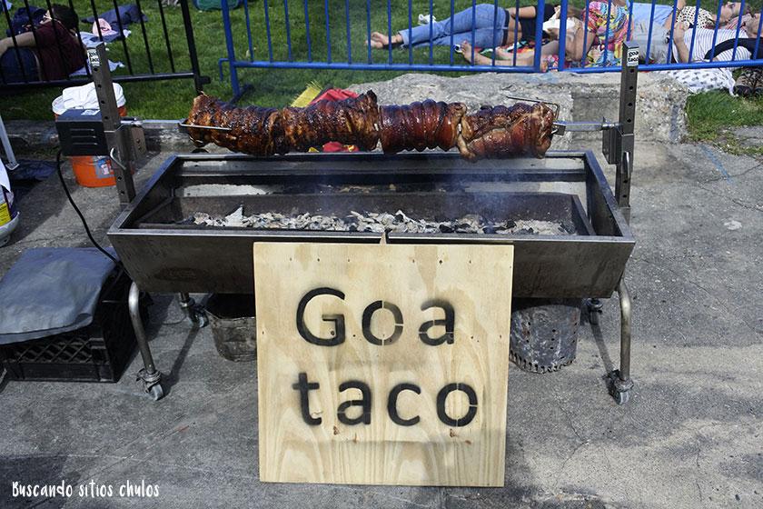 Goa taco en Smorgasburg