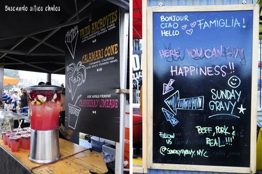 Puestos de comida y bebida en Smorgasburg