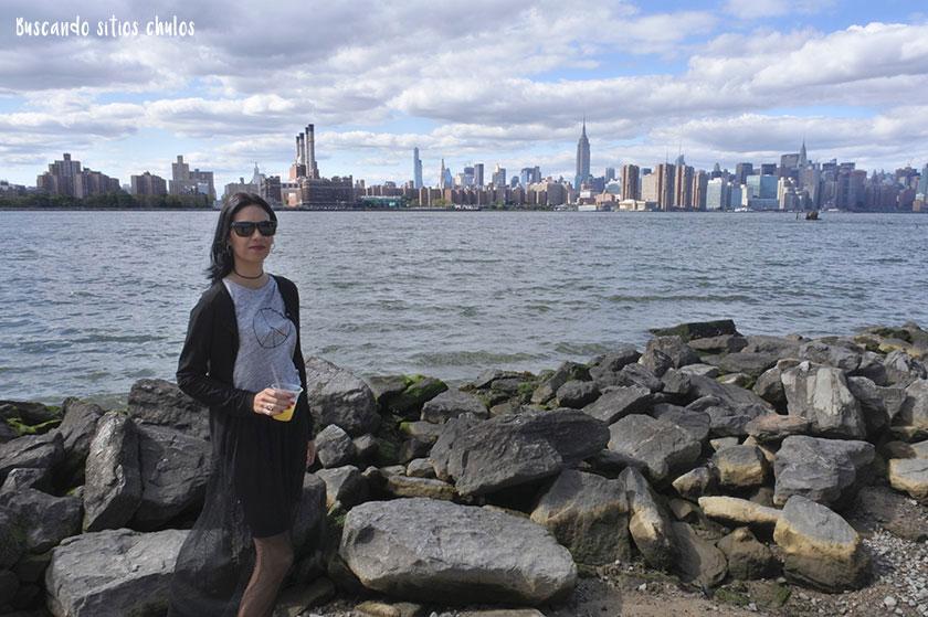 Vistas al skyline de Manhattan