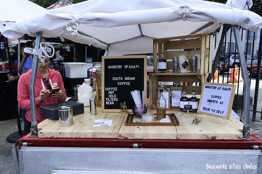 Puesto de café en Smorgasburg