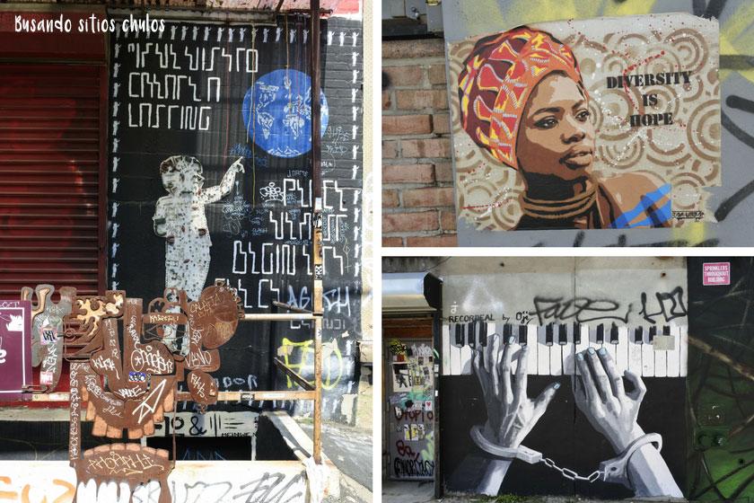 Graffitis en Bushwick 9