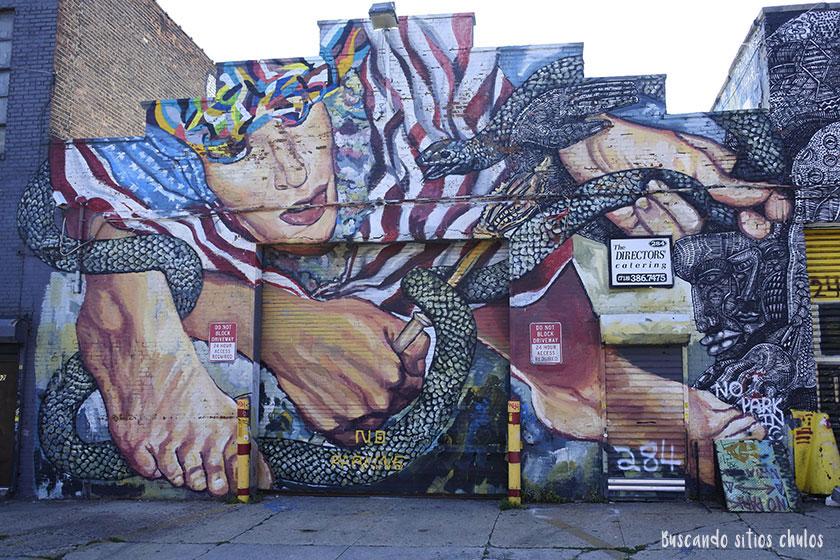 Graffitis en Bushwick 3