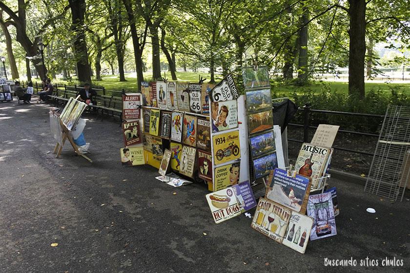 Souvenirs en Central Park