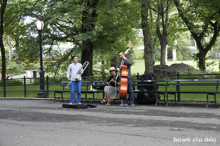 Músicos callejeros en Central Park