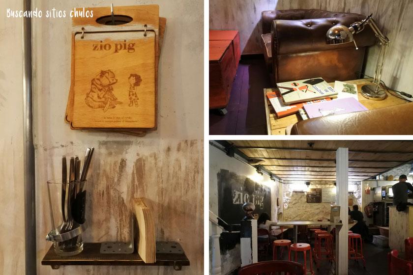 Interior y decoración de Zio Pig Gijón