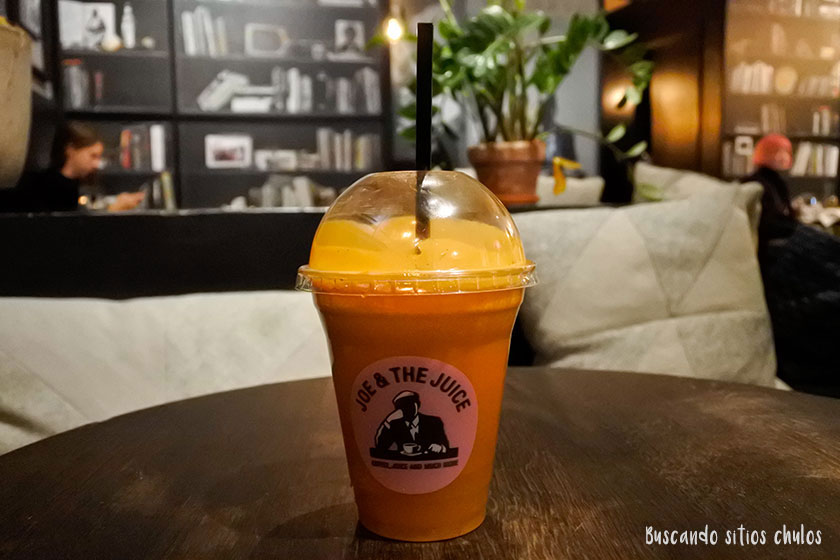 Zumo veggie focus en Joe & The Juice Nueva York