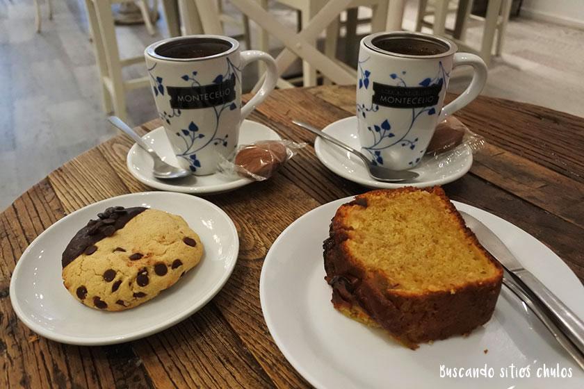Infusiones, cookie y bizcocho en Alitier Dulcia