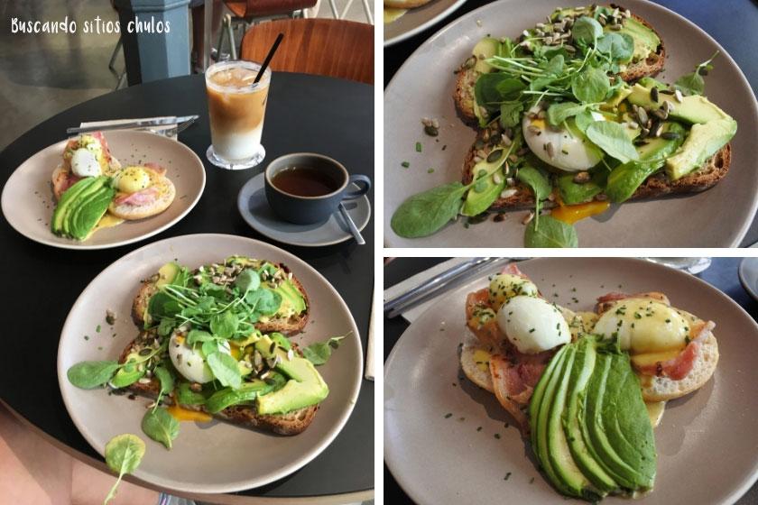 Desayuno en Federal Café Valencia