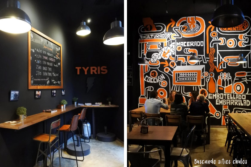 Interior de Tyris On Tap en Valencia