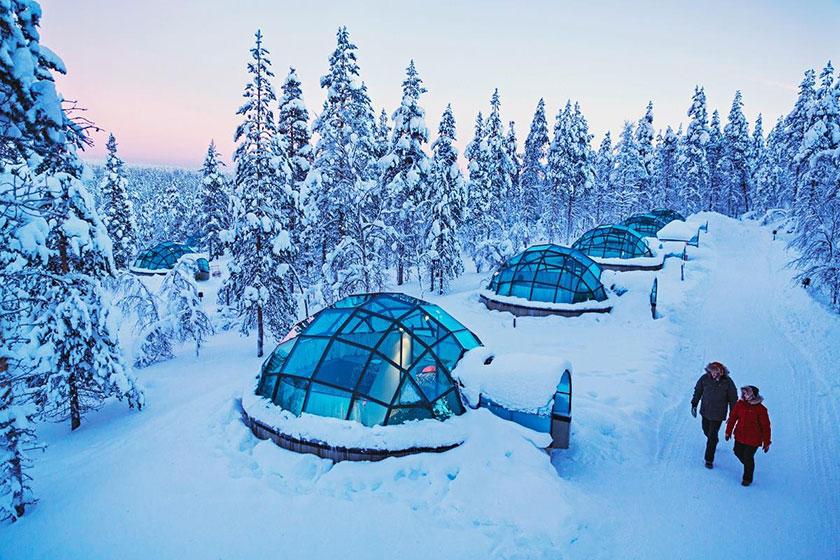 Iglús de cristal en Kakslauttanen Artic Resort
