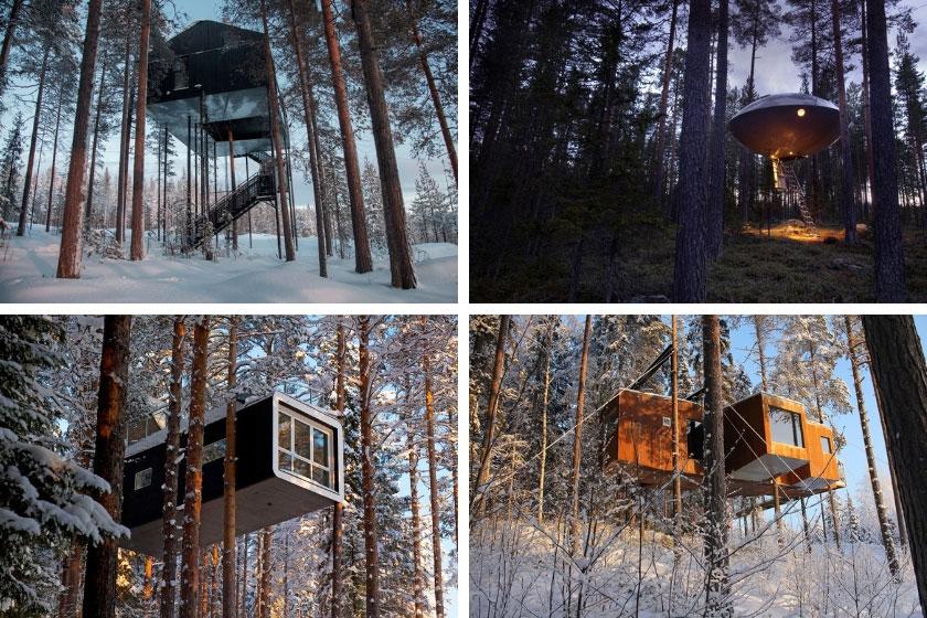 Cabañas del Treehotel en Suecia
