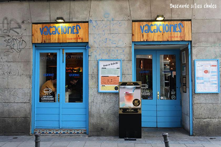 Vacaciones Cocktail Bar en Madrid