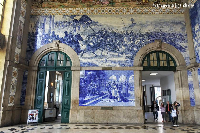 Azulejos de la Estación de Sao Bento