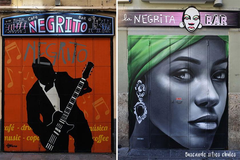 Arte urbano en las persianas de los negocios