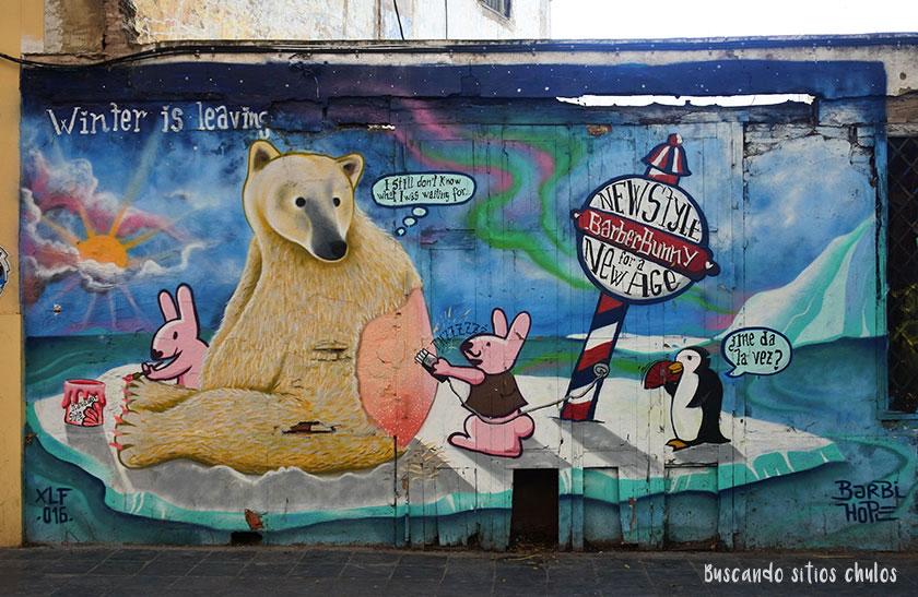 Arte urbano en los muros de Valencia