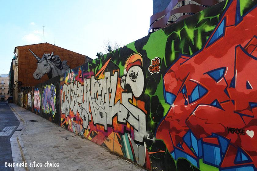 Graffitis en las calles de Valencia