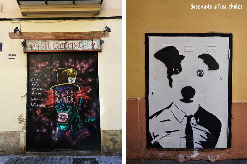Arte urbano en el Barrio del Carmen en Valencia