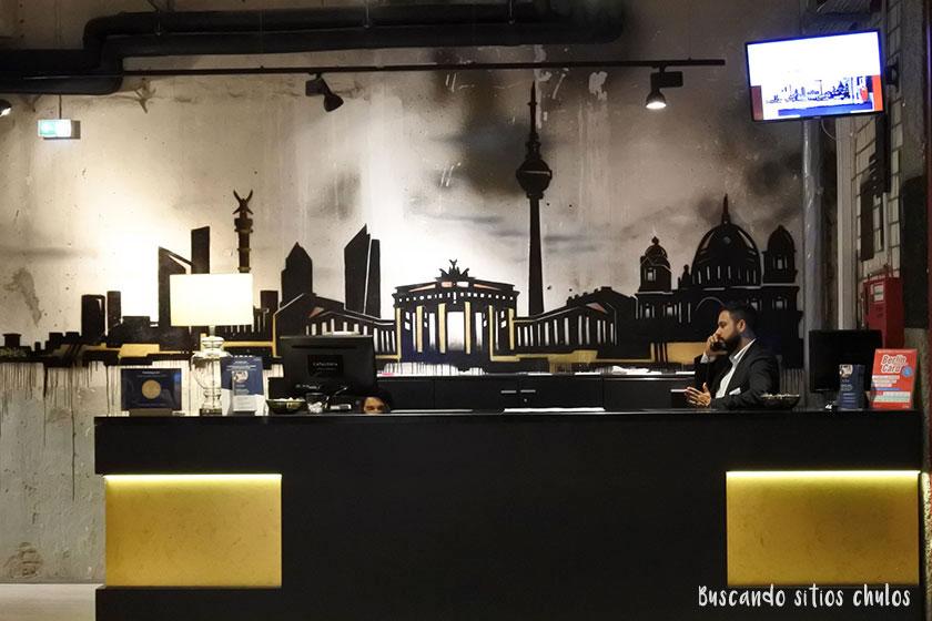 Recepción Hotel Catalonia Berlín Mitte