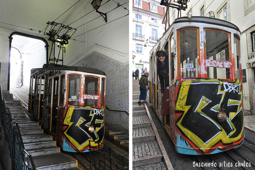 Elevador da Bica en Lisboa