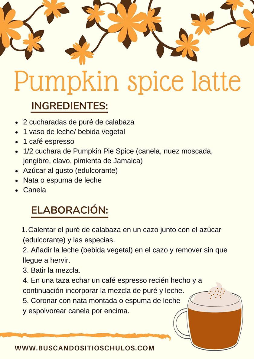 Receta Pumpkin Spice Latte