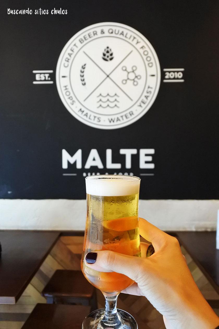 Malte cerveza artesana en La Coruña