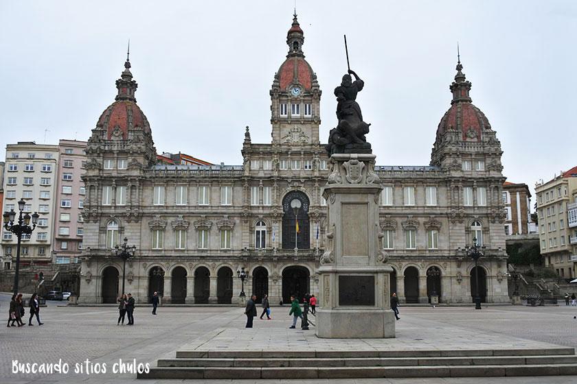 Plaza de María Pita en La Coruña