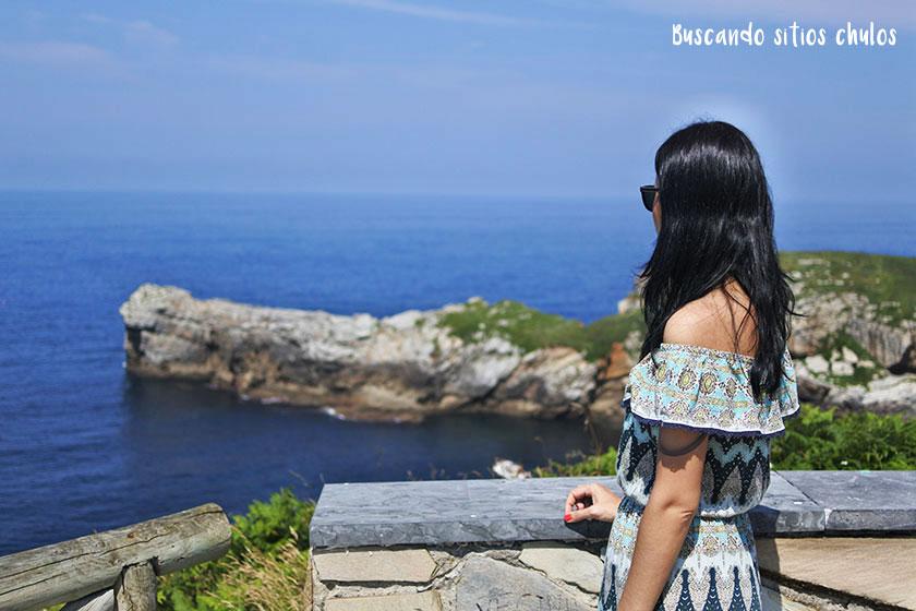 Vistas al mar desde el Cabo San Lorenzo en Gijón