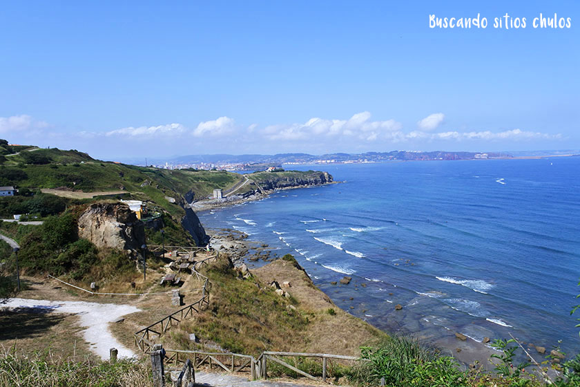 Vistas a la costa de Gijón