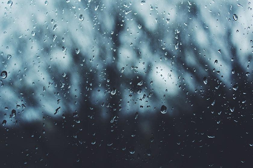 Gotas de lluvia en los cristales