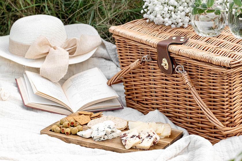 Hacer un picnic en primavera
